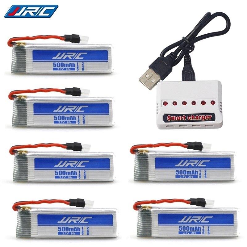 7 teile/satz 3,7 v 500 mah 20c für JJPC H37 E50 E50S T37 ELFIE Drone RC Eders Hubschrauber Lipo Batterie und 5-in-1 Ladegerät Ersatzteile Teil