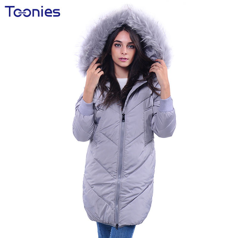 2017 Women Coats Parkas With Fur Hooded Overcoat Padded Jacket Jaquetas Feminino Long Sleeve Warm Thick Winter Clothes Tops Coat 2017 winter jacket women warm parkas padded cotton coat female middle long fur hooded winter coats overcoat jaquetas feminino