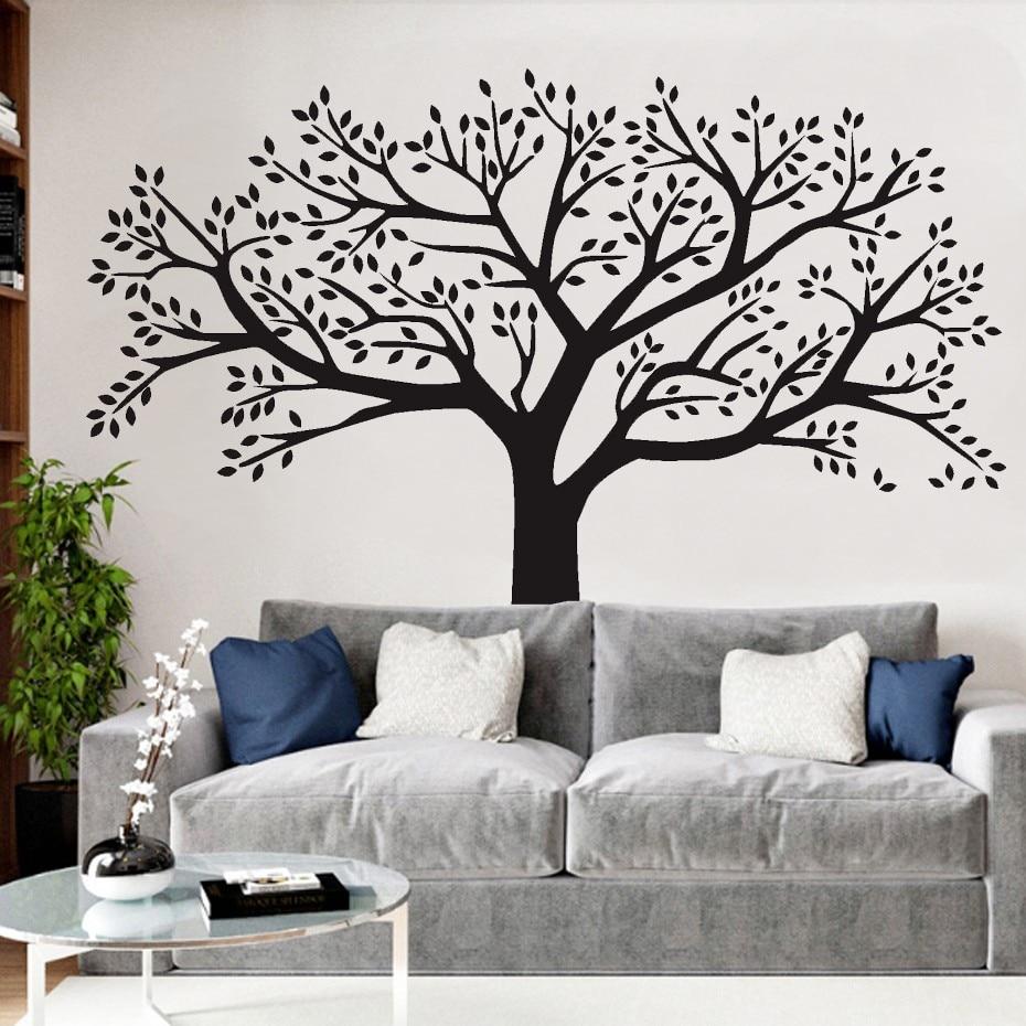 Fotografitë e mëdha familjare Pemë ngjitëse në mur vinyl Degët - Dekor në shtëpi - Foto 3
