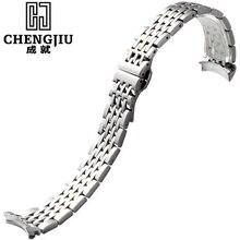 19mm de bracelet de montre pour tissot pour lelocle1853 pour t41 déploiement fermoir montres bande en acier brossé bracelet ceinture bracelets bretelles