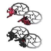 Quality MTB Front Rear Oil Disc Brake Device Bisiklet Folding Line Road Mountain Highway Bike Line Pull Hydraulic Oil Dish 4