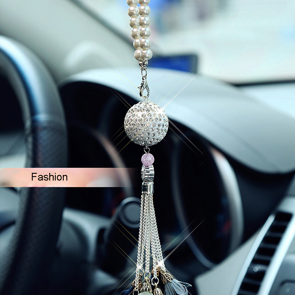 rear mirror automobiles alloy decoration rearview high fashion ornaments from wind pearl view grade in of pendant automobile men chinese car item interior