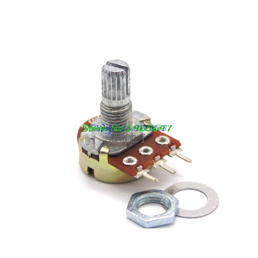 2pcs/lot WH148 15mm Shaft Amplifier Dual Stereo Potentiometer B1K B2K B5K B10K B20K B50K B100K B500K 3Pin 1K 2K 5K 10K 50K 100K