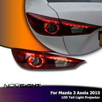 NOVSIGHT 2Pcs High Quality H7 Car LED Headlights Projector DRL Fog Lamp Light Turn Signal For Mazda 3 Axela 2015