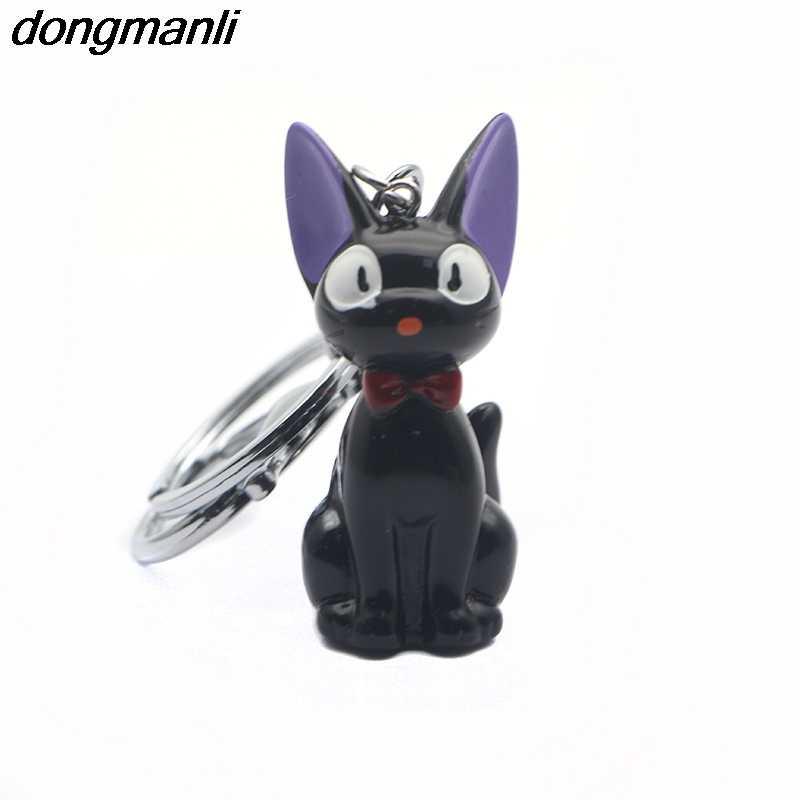 P1697 Dongamnli Gato Preto chaveiro Anime Serviço de Entrega de Kiki Kiki Gato Resina Coleção Figuras de Ação Presentes dos miúdos