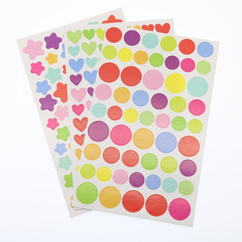 6pcs/Set, Office Stationery Sticker Diary Plan Rainbow Heart Stars Label Magazine Scissors Notebook/Album Photo Decoration отсутствует office magazine 12 56 декабрь 2011