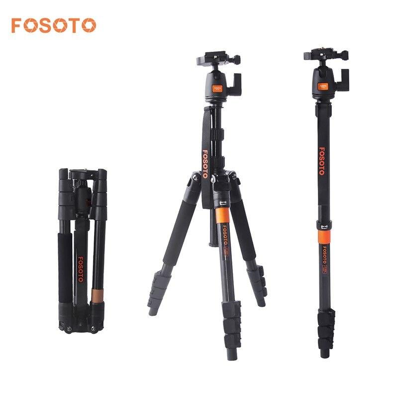 Fosoto F-555 professionnel Portable magnésium alliage d'aluminium Q555 appareil photo trépied monopode support et rotule pour Canon Nikon Sony