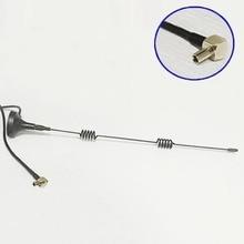 2 unids 3G Antena TS9 conector 5dBi de alta ganancia de Antena de Base Magnética 3 m cable de extensión para el módem usb huawei e392 e1762 e3272 #1