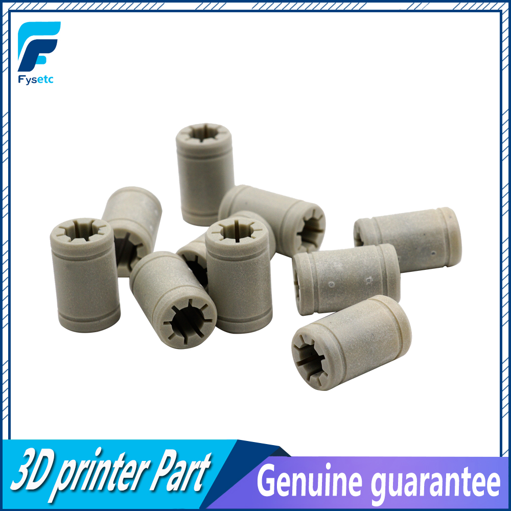 12pcs Solid Polymer LM8UU Bearing 8mm shaft same as Drylin RJ4JP-01-08 for Anet Reprap Prusa i3 3D P