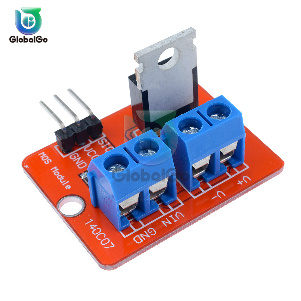 IRF520-MOSFET 0-<font><b>24V</b></font> Top Mosfet Button IRF520 MOS <font><b>Driver</b></font> Module For Arduino MCU ARM For Raspberry pi PWM Dimming LED image