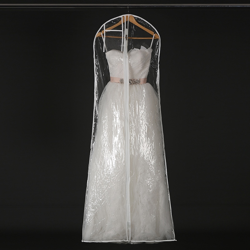 Ny Ankomst Bröllopsklänning Dammskydd Kläder Arrangör Stora Vakuumväskor För Förvaring Kläder Garderob Förvaringsväska