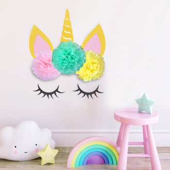 Unicorn Decoration Birthday Unicorn Horn Sets Party Supplies
