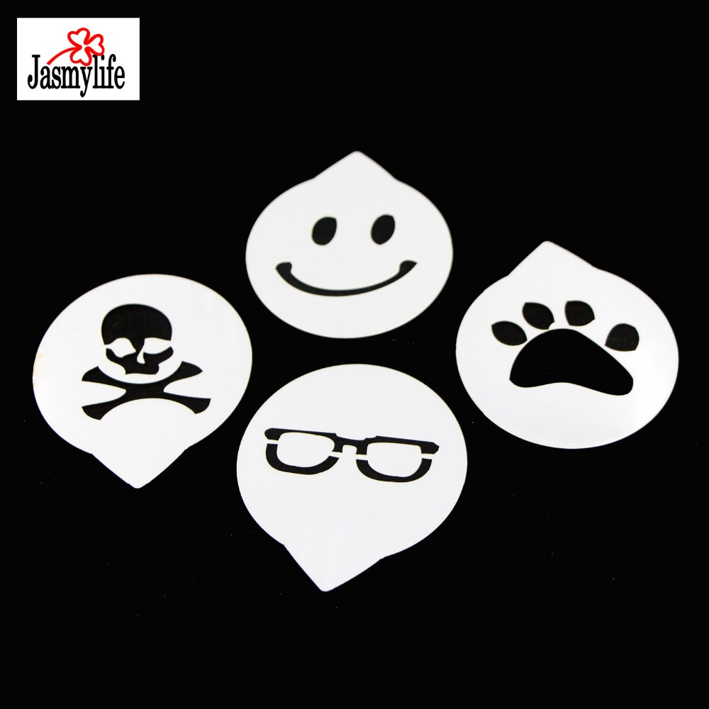 US $3 9 |Cupcake Decoration Template Mold Small 4PCS Skull Smile Bear Paw  Glasses Fondant Decorating Cake Stencil Baking Tools For Cakes-in Cake  Molds