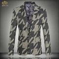 MIUK 2017 New Large Size Geometry Print Blazer Men Brand Clothing 5XL 4XL High Quality Men Blazer Slim Fit Blazer Masculino