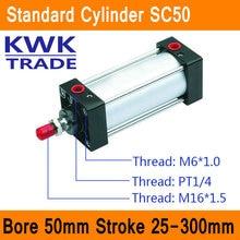 SC50 Стандартные Цилиндры Воздуха Клапан CE ISO Диаметр 50 мм Строк 25 мм до 300 мм Ход Одноместный Род Двойного действия Пневматический Цилиндр