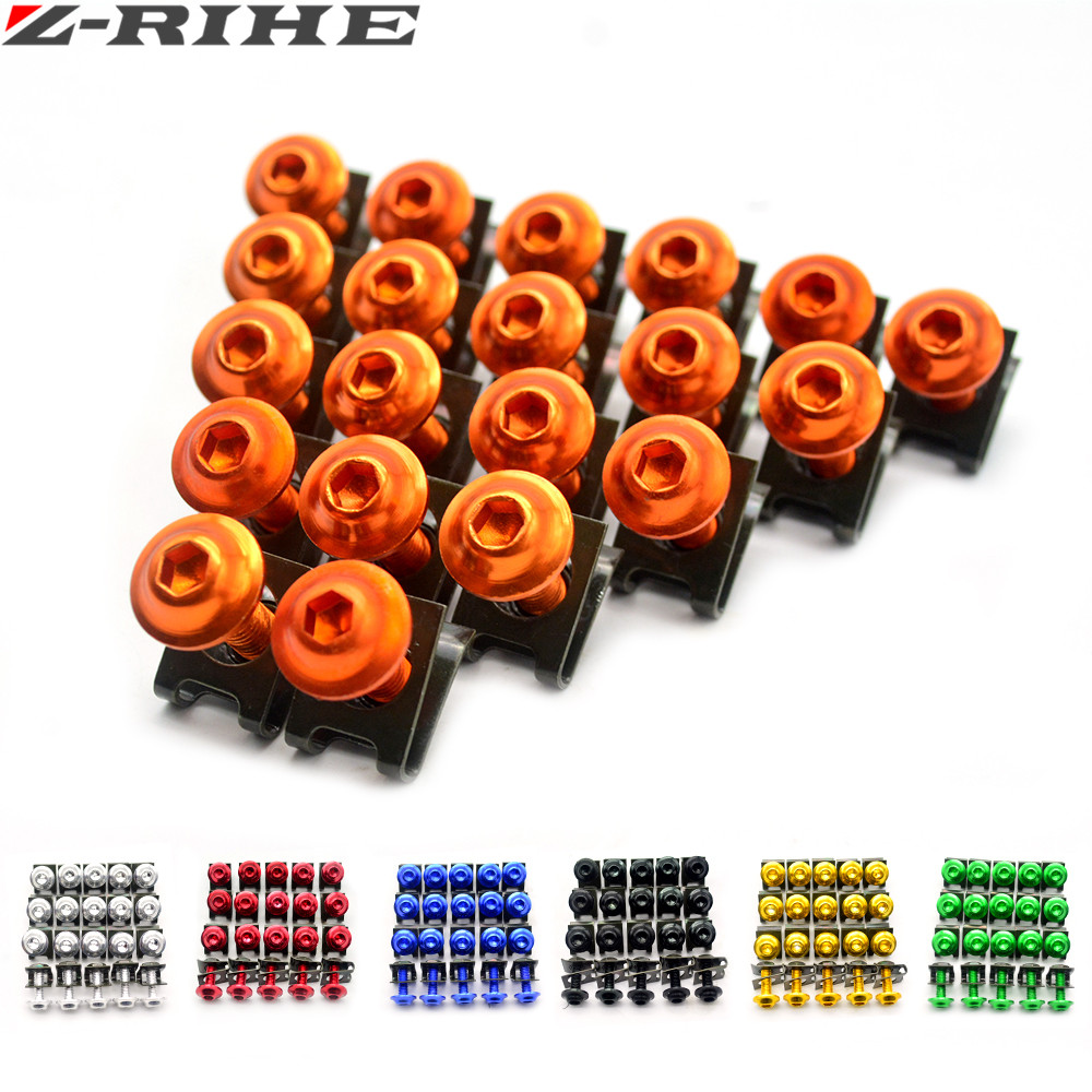 20x High quality 6MM Motorcycle Accessories Fairing body work Bolts FOR KTM duke 690 Duke 390 125 rc 125 250 SMC 1190 RC8R 250 for ktm logo 125 200 390 690 duke rc 200 390 motorcycle accessories cnc engine oil filter cover cap