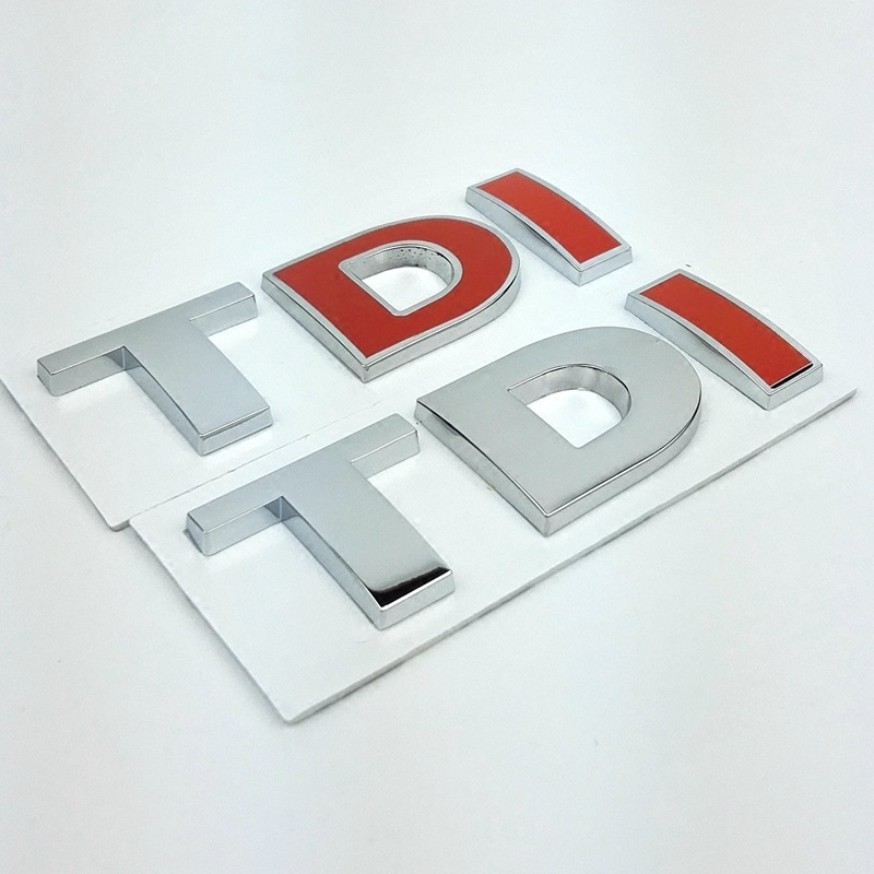 Car 3D TDI Logo Rear Boot Badge Emblem Sticker Decal