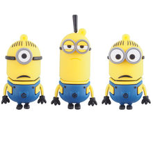 Minions cartoon cle usb key 4gb 8gb pendrive 64 gb 128 gb usb pen drive 32gb usb flash drive 16gb flash usb memory stick as gift(China)