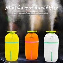 Creative Radish Carrot Air Humidifier USB Mini Diffuser 200ML Household Office Car Mute Mist Maker Fogger 3 Colors Cute Shape