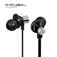 JBM MJ9013 Metal Earphone 3 5mm In Ear Earphone Music Earphone For Iphone 6 6S For