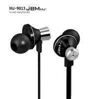 Jbm mj9013 metalu słuchawkowe 3.5mm w ucho słuchawki muzyki słuchawki dla iphone 6 6 s dla samsung s6 s7 xiaomi telefony komórkowe mp3 mp4 pc