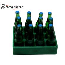 Dongzhur Resin Miniature Food Play Mini Drink Model Miniaturas 1:12 Dollhouse Accessories 3 Colors Mini Drink Bottle(China)