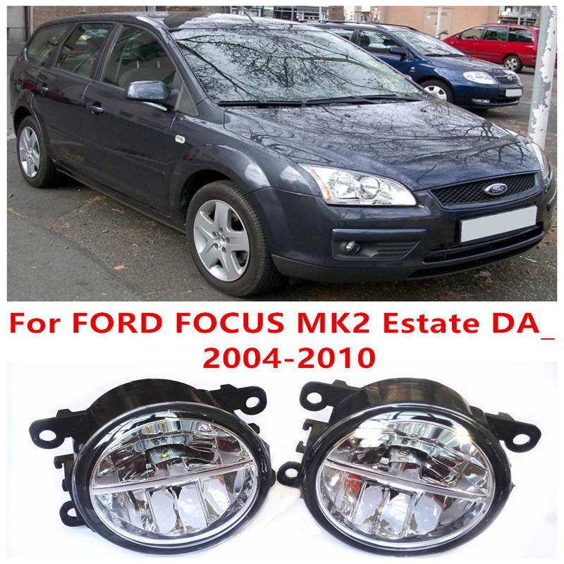 ФОТО For FORD FOCUS MK2 Estate DA_ 2004-2010 Fog Lamps LED Car Styling 10W Yellow White 2016 new lights
