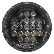 """1 set 7 """"5D Combo Super Luminoso 7 pollici HA CONDOTTO il Faro MOTORE proiettore faro 126 W HA CONDOTTO LA lampada con DRL per Harley e Jeep Wrangle"""