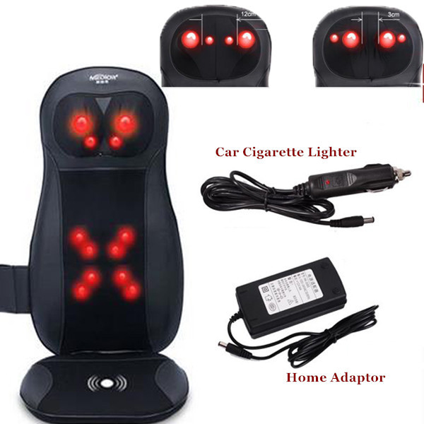 Car Massage Cushion Seat Heating Vibration Massage Chair Mat Free Shipping newest drivers car massage cushion seat jade heating kneading massage cushion free shipping