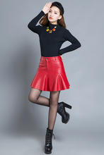 High Waist Shemale Leather Skirt