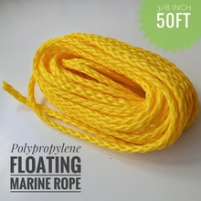 3/8 inch 50ft Heavy Duty Lightweight Hollow Polypropylene Floating Anchor Mooring Rope Dock Rope Marine Rope Boat Sailing Rope