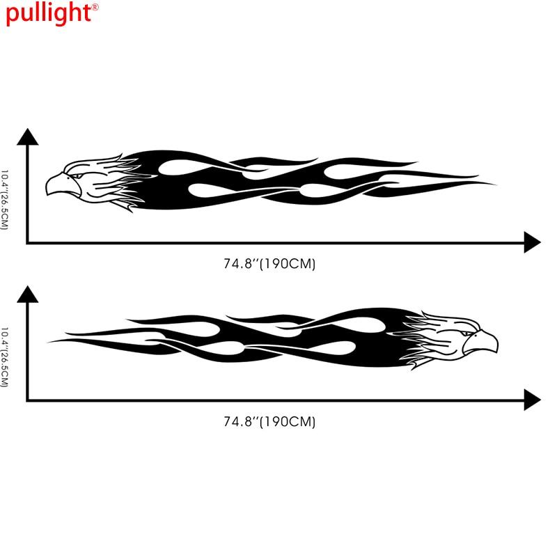 2 x voiture aigle volant flammes animaux porte stickers pour Elantra vinyle autocollants latéraux