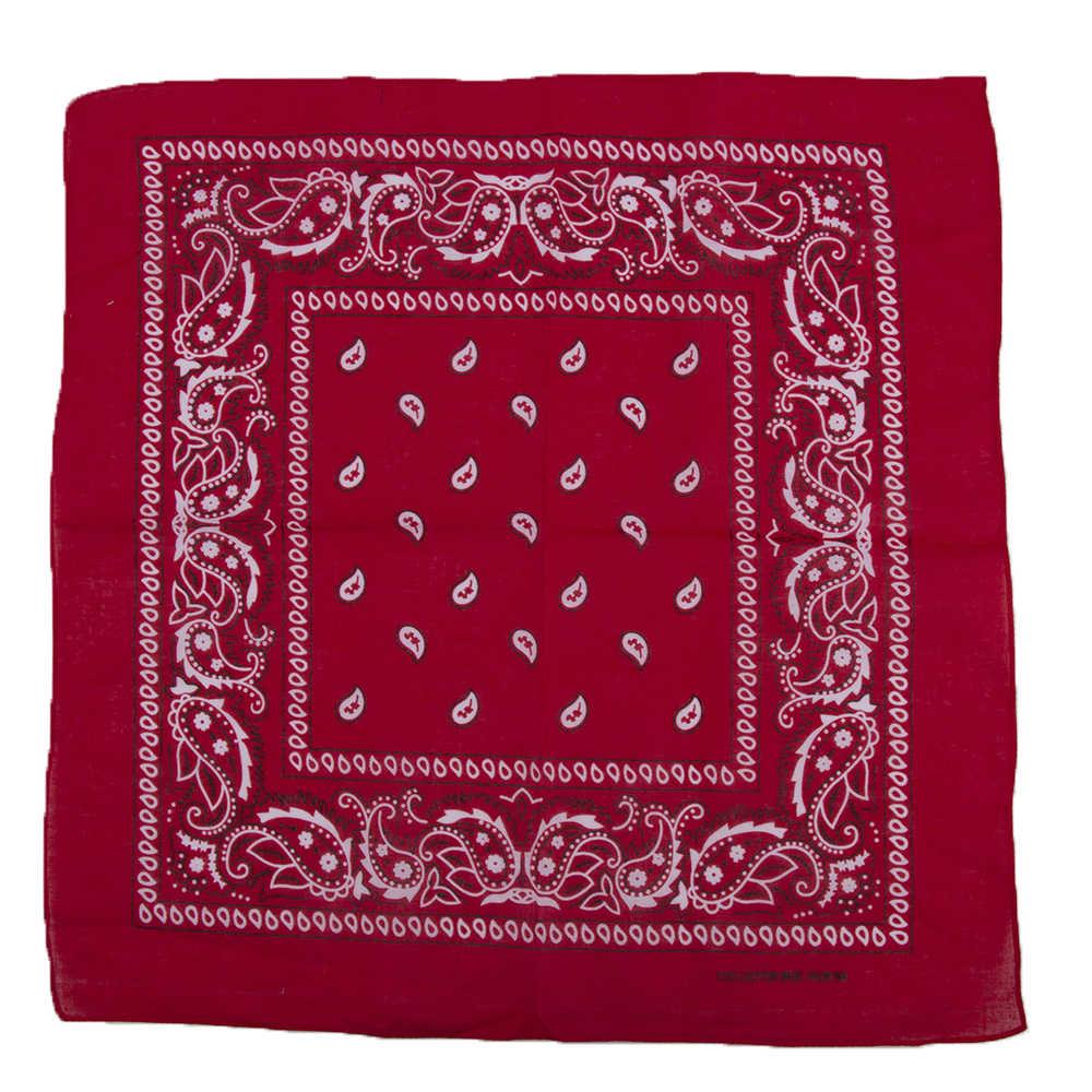 1PC 新加入綿 100% ヒップホップのバンダナ男性女性ヘッドスカーフリストバンドヴィンテージポケットタオルホット販売