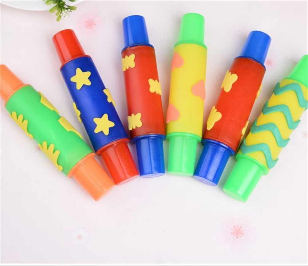 18 см Пластилин для лепки rolling pin ntelligent ПЛАСТИЛИНОВАЯ глина инструмент цветы украшение ролик щетка уплотнение детские игрушки Горячая Распродажа