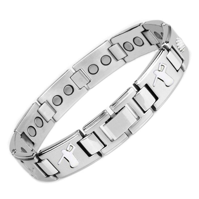 LITTLE FROG Drop-Shipping Men's Bio Elements Energy Magnetic Bracelet Healing Stainless Steel Golf Bracelets Health Jewelry