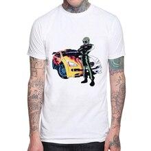 цены Hot Sale 2019 New Casual Summer Men's T-shirt Racer Hombre Camisetas Cotton Printed T-shirt Short-sleeved Men T shirts XS-XXXL