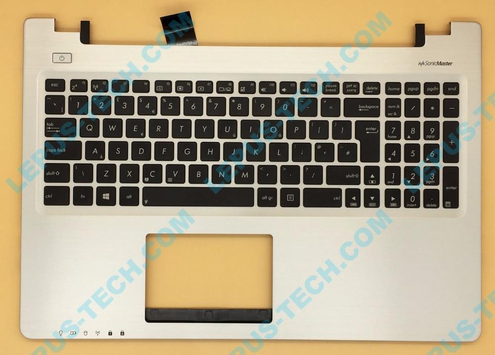 UK English US Keyboard For ASUS K56 K56C K56CB K56CM K56CA A56 A56C S56C S56 Top Cover Upper Case Palmrest 90R NUH1K1180Y Silver
