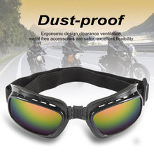 Man Vrouwen Vouwen Motocross Goggles Bril Winddicht Ski Off Road Dirt Bike Motorcycle Bril Brillen Verstelbare Elastische Band(China)