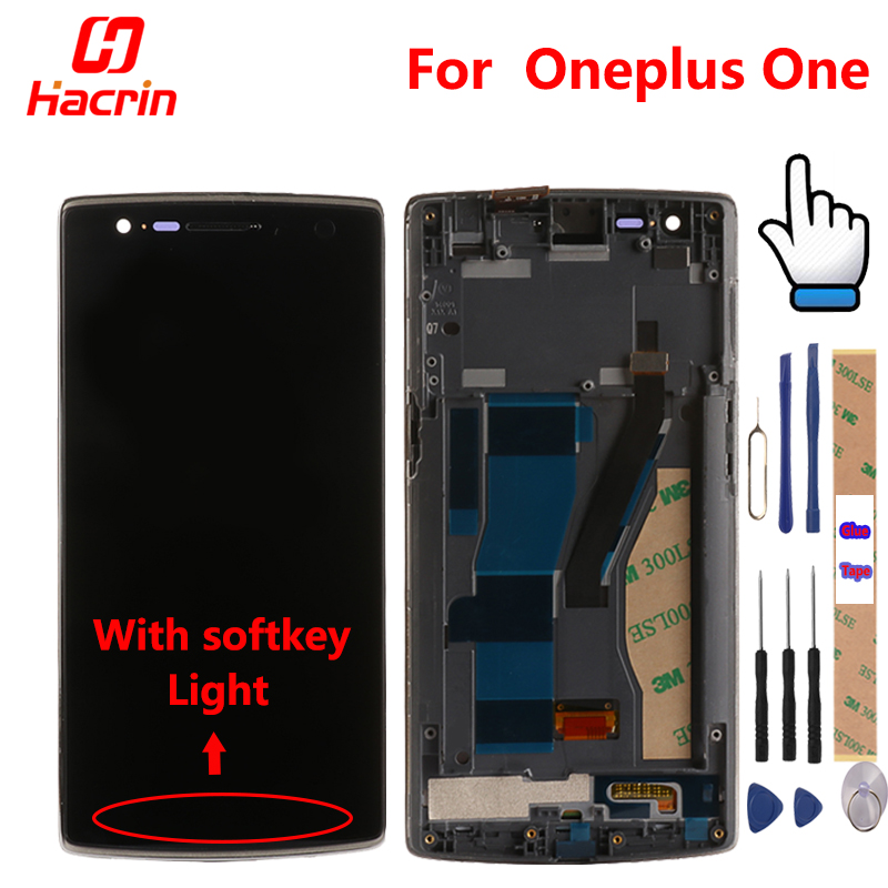 OnePlus One Screen With Frame Premium LCD Display + Touch Screen Digitizer Replacement Accessories For One Plus One