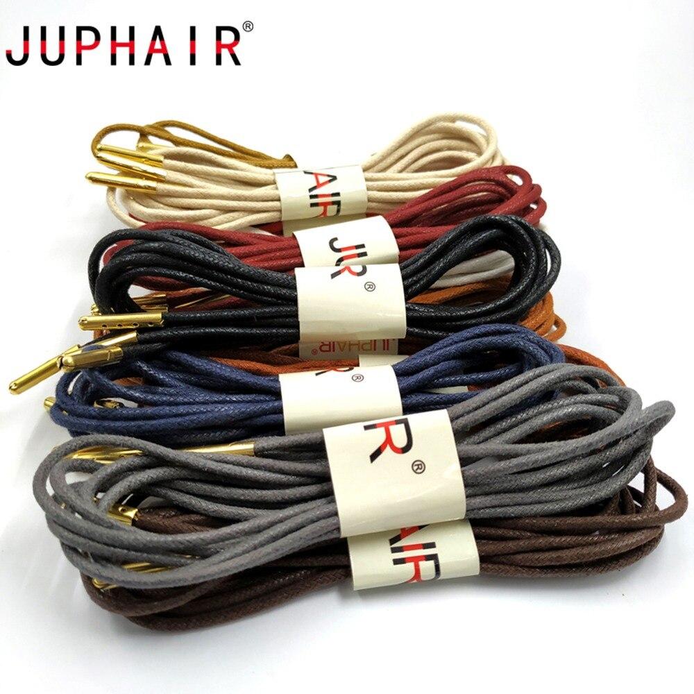 JUPHAIR 60-180 cm Rotonda Cerato Lacci Delle Scarpe In Metallo Dorato Testa  di Cotone e20dc3eaf38