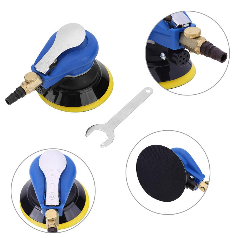5 inches Mini Pneumatic Air Sander Car 9500RPM Pad Polisher Sandpaper Grinding Sanding Machine High Quality Power Tools 11 11 free shipping adhesive sander back pad sanding machine mat black white for makita 9035