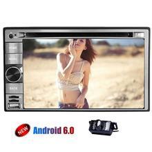 Автомобильный DVD стерео емкостный экран Android 6.0 dvd-плеер автомобиля в тире 2 DIN unitgps навигации Аудиомагнитолы автомобильные dvd bluetooth, Wi-Fi + Камера