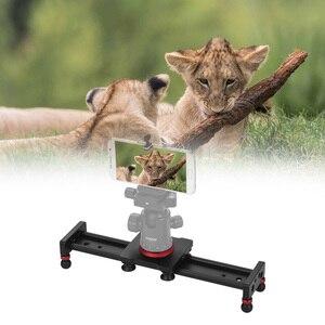 Image 2 - 30cm 40cm 50cm Camera Track Slider Aluminum Alloy Damping Slider Track Video Stabilizer Rail Track Slider for DSLR Camcorder