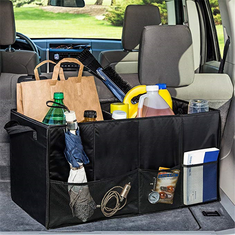 Portable Multi Compartments Trunk Storage Organizer 600D Oxford Stowing Tidying Interior Holders Car Foldable Storage Bags