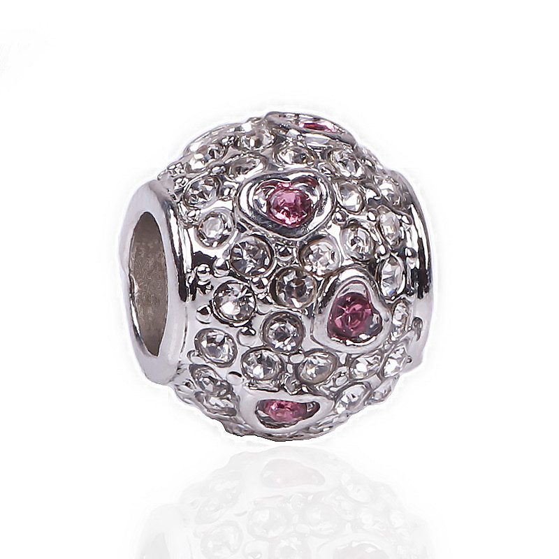 Femmes Vogue Or Argent Amour Petite Perle Cristal Alliage Mince Anneau Casual match