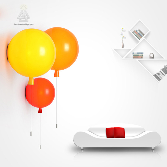 Novelty colorful balloon wall lamps modern children kids bedroom novelty colorful balloon wall lamps modern children kids bedroom bedside wall lights acrylic shade wall sconces aloadofball Image collections