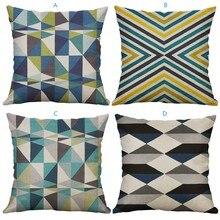 Funda de cojín con diseño geométrico Irregular de 60x60 cm, funda de cojín para cintura para sofá, fundas de cojín para decoración del hogar, regalo