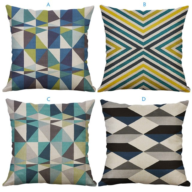 Irregular Geometric Pattern Pillowcase Cushion Cover 60x60cm Sofa Waist Throw Cushion Cover Home Decor Cushion Covers Gift
