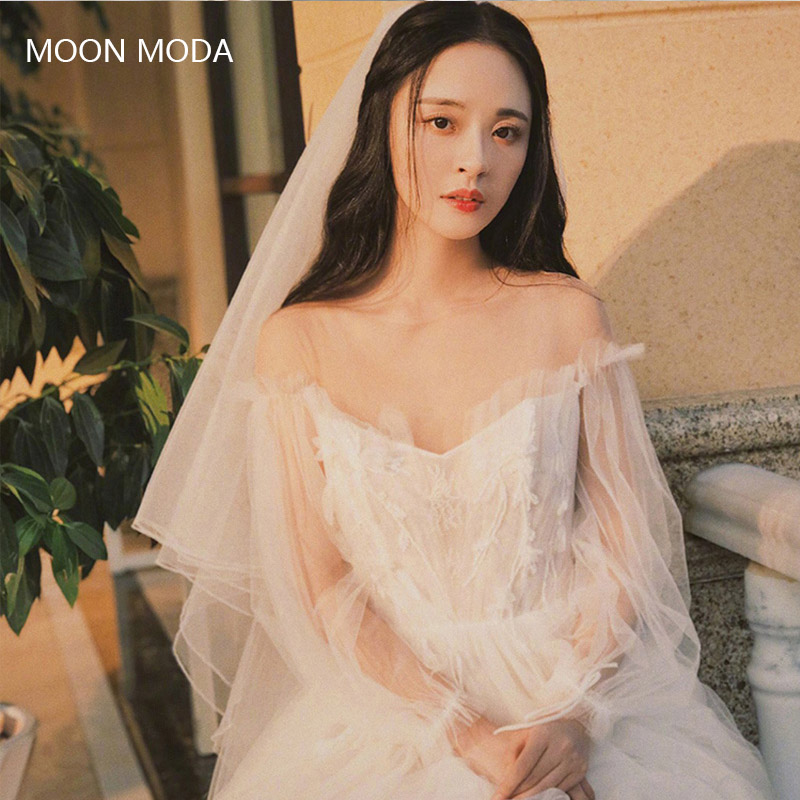 Real Simple Weddings Magazine 2018: MOON MODA Beach Wedding Dresses 2018 A Line Lace Plus Size