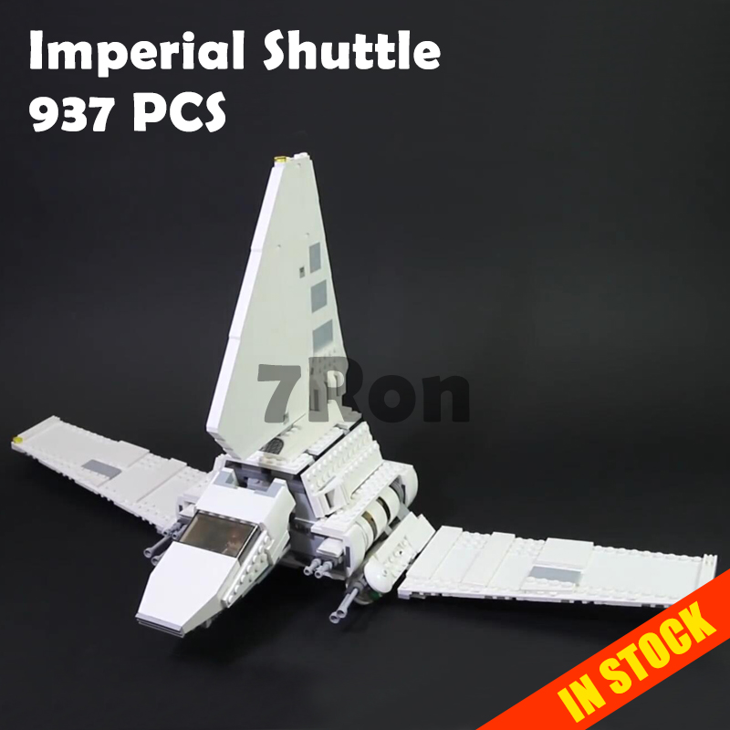 05057 937Pcs Star Series Imperial Shuttle Set Model Building Kit Blocks Bricks Toys Compatible with lego 75094 wars Gift hobbies 499pcs new space wars at dp robots 10376 model building blocks toys gift rebels animated tv series bricks compatible with lego